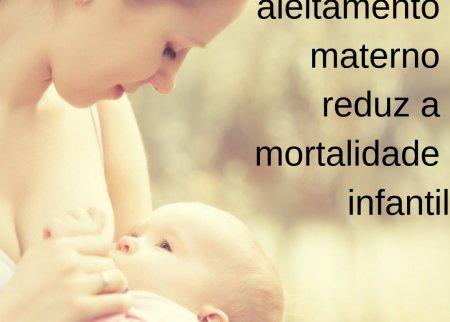 Apoio ao aleitamento materno, reduz mortalidade infantil.